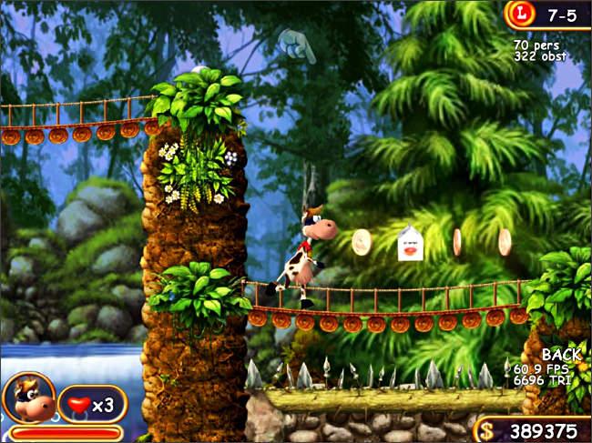 Скриншот к мини игре Супер Корова, скачать бесплатно мини игру Супер Корова,